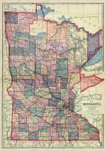 Minnesota State Map, Wilkin County 1915